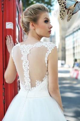 Svatební šaty na ramínka s krajkou Tendr...